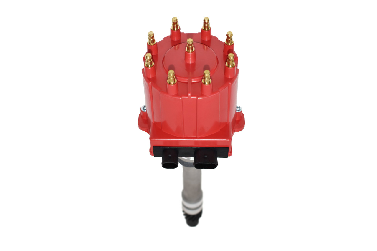 Male HEI Distributor Cap Coil And Rotor Replacement Red For SBC BBC 305 350 454