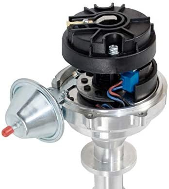 A-Team Performance Pro Series Ready to Run R2R Distributor for Chevy 348 409, V8 Engine, Black Cap