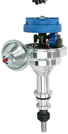 A-Team Performance Pro Series Ready to Run R2R Distributor for Ford, I6 Engine, 5/16 Hex Shaft, Blue Cap