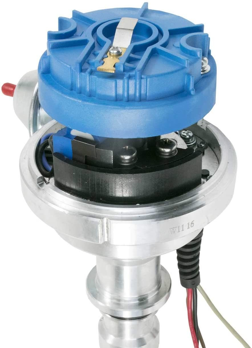 A-Team Performance Pro Series Ready to Run R2R Distributor for Ford, I6 Engine, Blue Cap