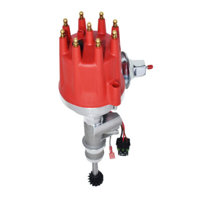A-Team Performance Pro Series Ready to Run Distributor Male Red Cap Compatible with 1955-1957 Ford Thunderbird Y-Block Tach Drive 272 292 312