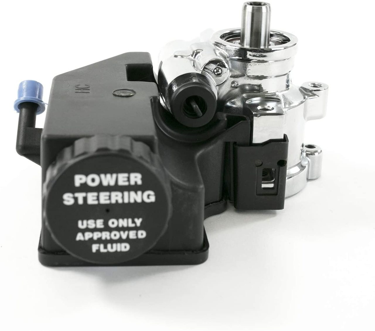 A-Team Performance Power Steering Pump Saginaw TC Series Aluminum Type II with Integral Reservoir GM (Chrome)…