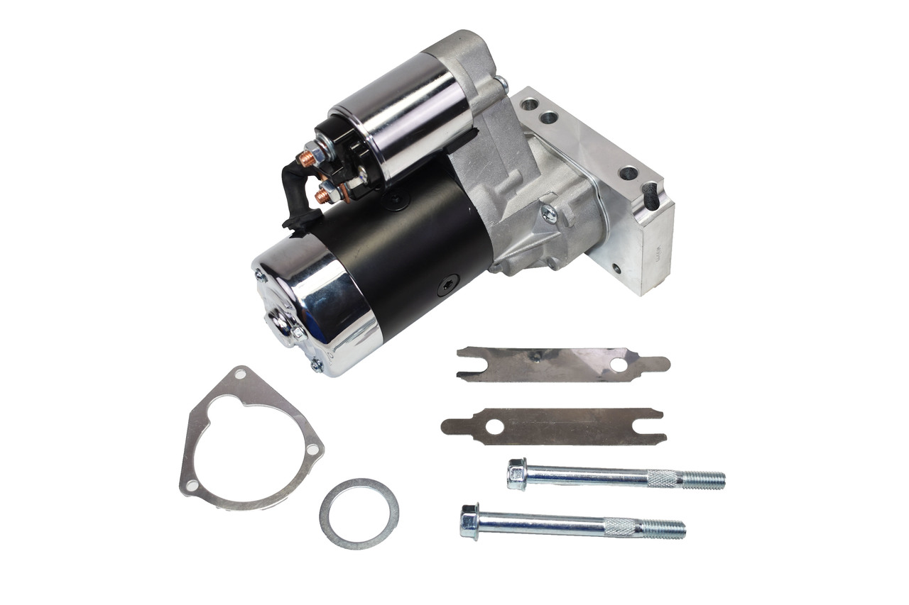 A-Team Performance SBC BBC CHEVY 3HP High Torque Mini Starter 327 350 396 Black