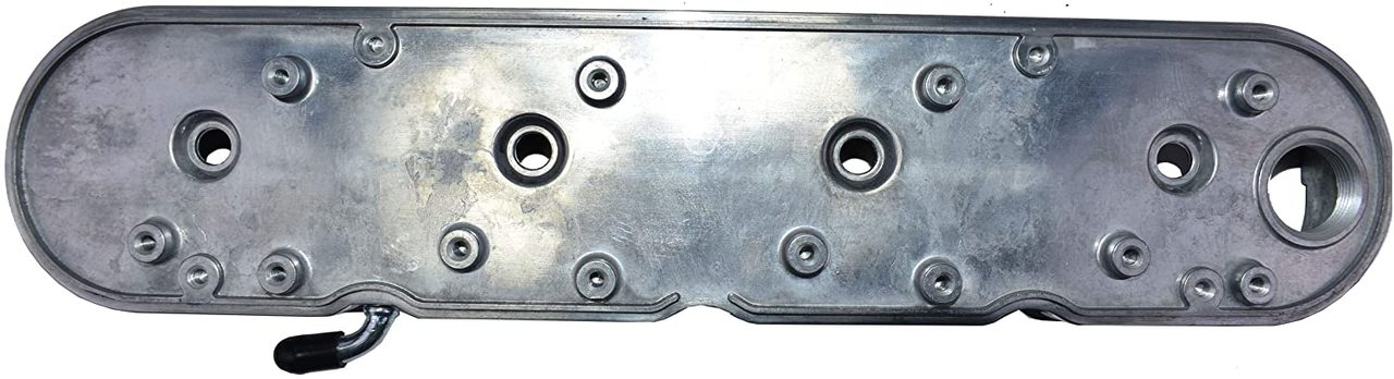 A-Team Performance GM LS Finned Cast Aluminum Valve Covers With Coil Mounts and Covers, Polished