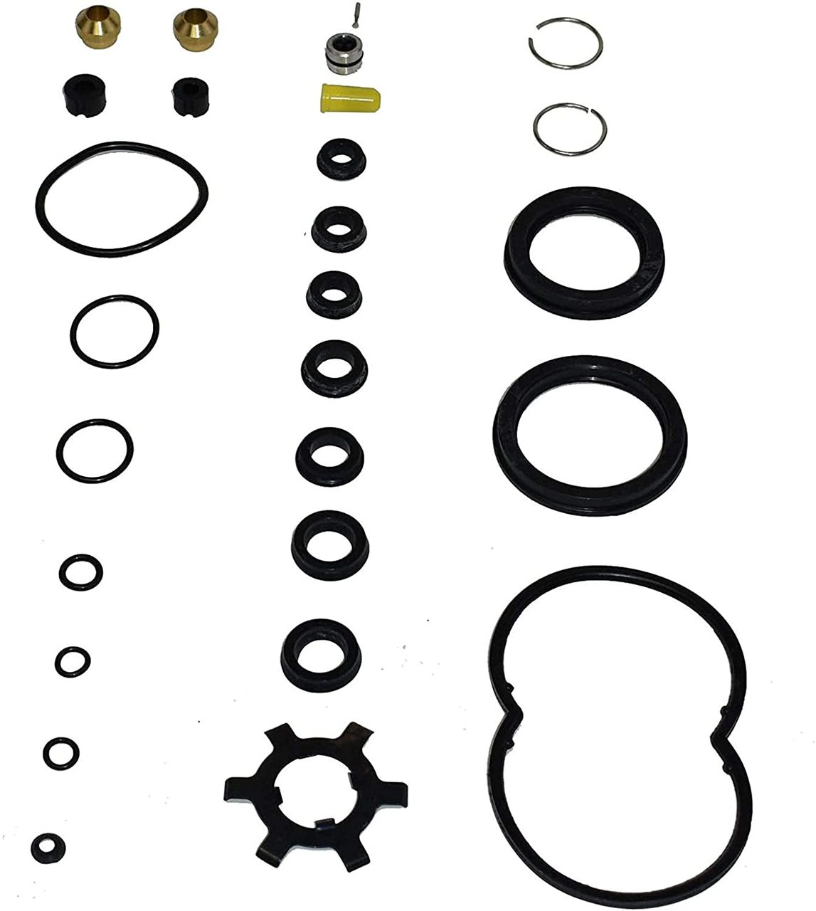 A-Team Performance GM 2771004 Hydro-Boost Seal Repair Kit Exact Duplicate for Brake System — Complete Seal Kit Compatible with Ford GM and Chrysler Hydroboost