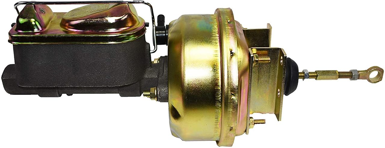 A-Team Performance 1964 65 66 Mustang Power Brake Booster, Master Cylinder for Automatic Trans