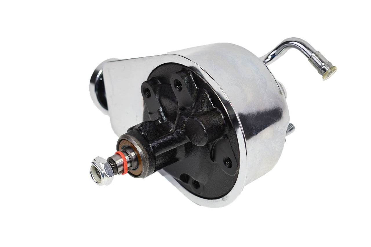 A-Team Performance Saginaw Power Steering Pump Compatible with Chevrolet GMC Buick Oldsmobile Pontiac P Series Chrome