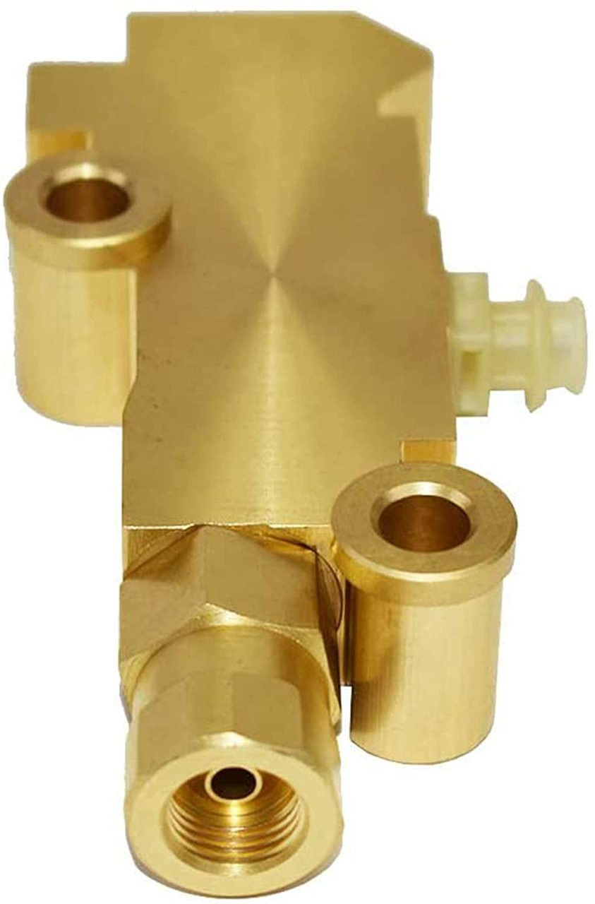 A-Team Performance PV2 172-1353 - Proportioning Valve Brass Finish for Disc/Drum Brakes