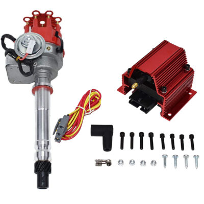 A-Team Performance CHEVY SMALL BIG BLOCK Ready-To-Run RED Small Cap Distributor W/50K Volt Coil
