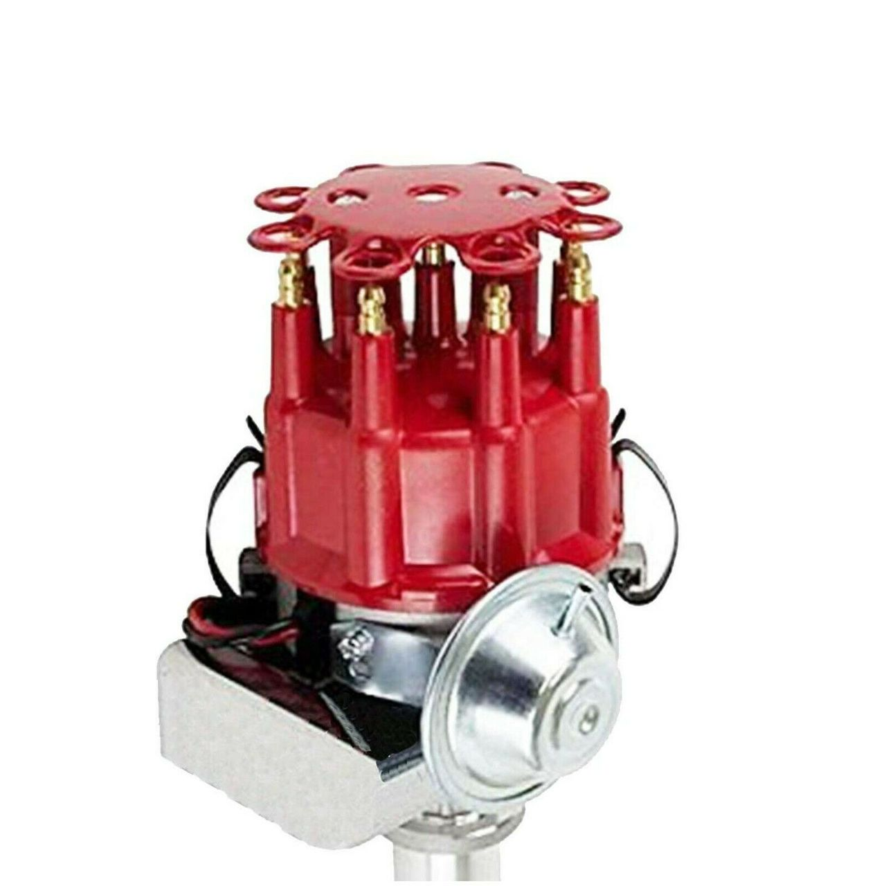 A-Team Performance SBC CHEVY/GM 350 Small Spark Plug Wires Cap Distributor Coil + Red 8Mm Over Valve Cover