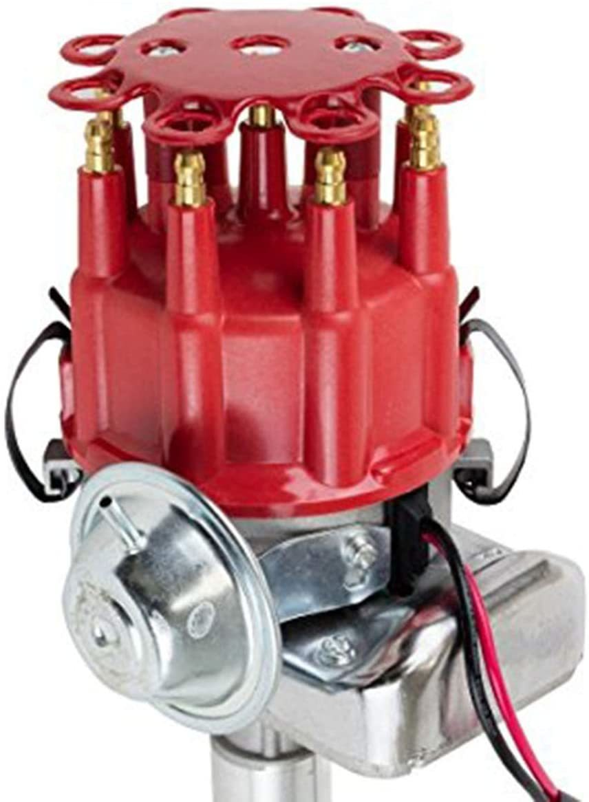 A-Team Performance R2R Ready 2 Run Complete Distributor Compatible with Pontiac V8 301 326 350 387 400 421 428 455 Two-Wire Installation Red Cap