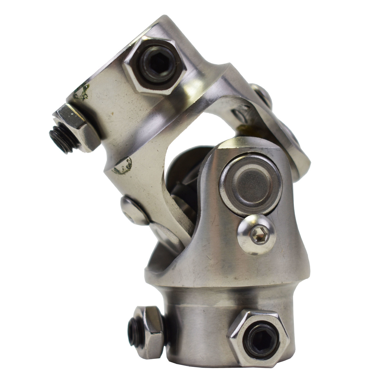"""A-Team Performance Forged Stainless Steel Yokes Steering Shaft Universal U-Joint 3/4"""" DD To 3/4"""" DD"""