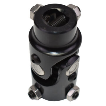 "A-Team Performance Forged Steel Yokes Steering Shaft Universal U-JOINT 1"" DD TO 3/4"" DD Black"
