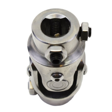 """A-Team Performance Forged Stainless Steel Yokes Steering Shaft Universal U-Joint 3/4"""" 36 Spline To 3/4"""" DD"""