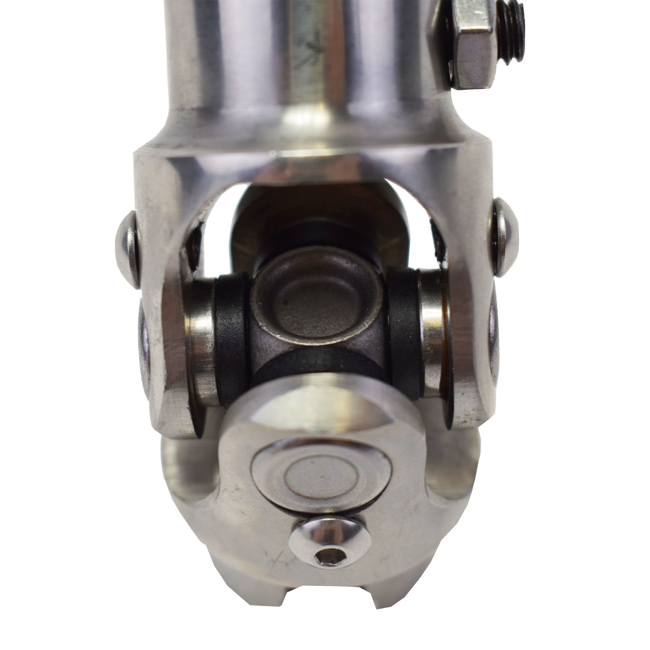 "A-Team Performance Forged Stainless Steel Yokes Steering Shaft Universal U-Joint 3/4"" 36 Spline To 3/4"" DD"