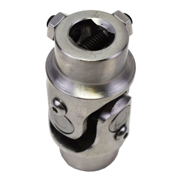 """A-Team Performance Forged Stainless Steel Yokes Steering Shaft Universal U-Joint 3/4"""" 30 Spline To 3/4"""" DD"""