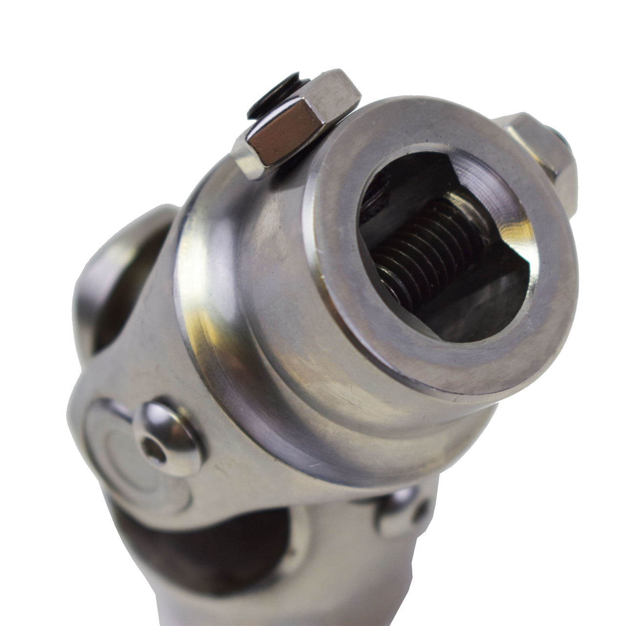 "A-Team Performance Forged Steel Yokes Steering Shaft Universal U-Joint 9/16"" 26 Spline To 3/4"" DD"
