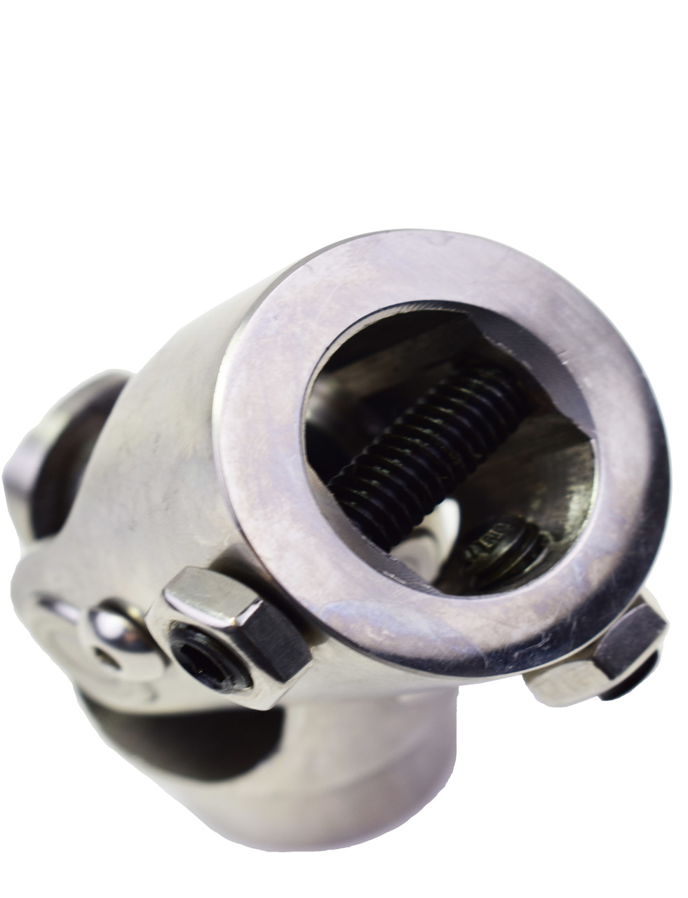 """A-Team Performance Forged Stainless Steel Yokes Steering Shaft Universal U-Joint 13/16"""" 36 Spline To 1"""" DD"""