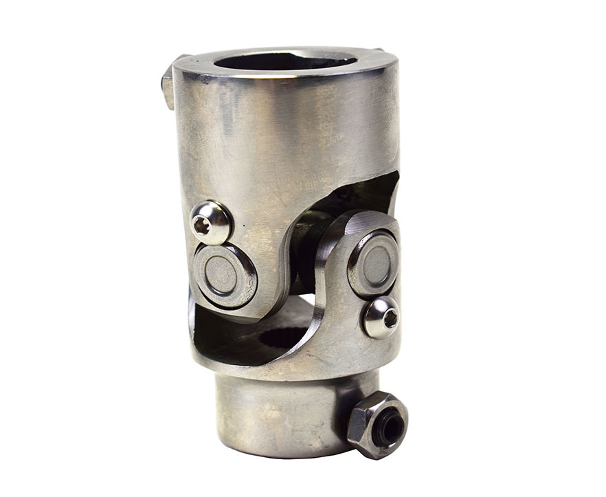 """A-Team Performance Forged Stainless Steel Yokes Steering Shaft Universal U-Joint 9/16"""" 26 Spline To 1"""" DD"""