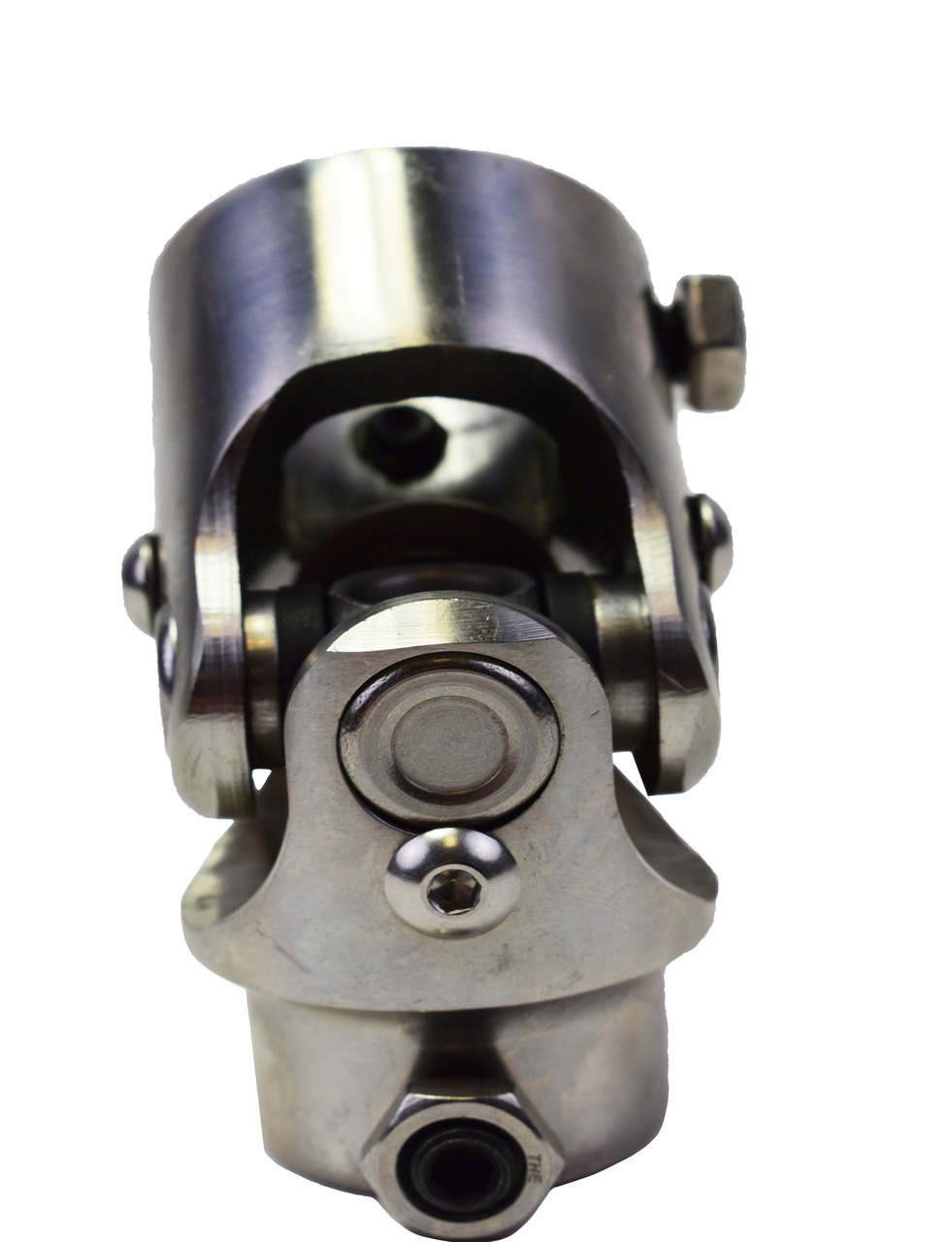 "A-Team Performance Forged Stainless Steel Yokes Steering Shaft Universal U-Joint 9/16"" 26 Spline To 1"" DD"