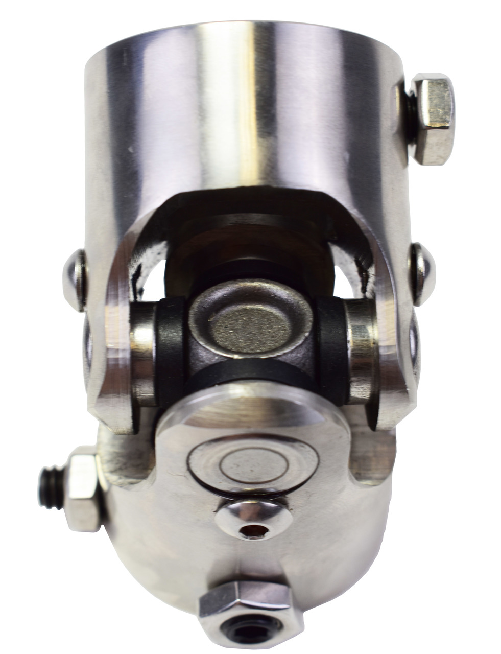 """A-Team Performance Forged Stainless Steel YokesSteering Shaft Universal U-Joint 1"""" DD To 1"""" DD"""