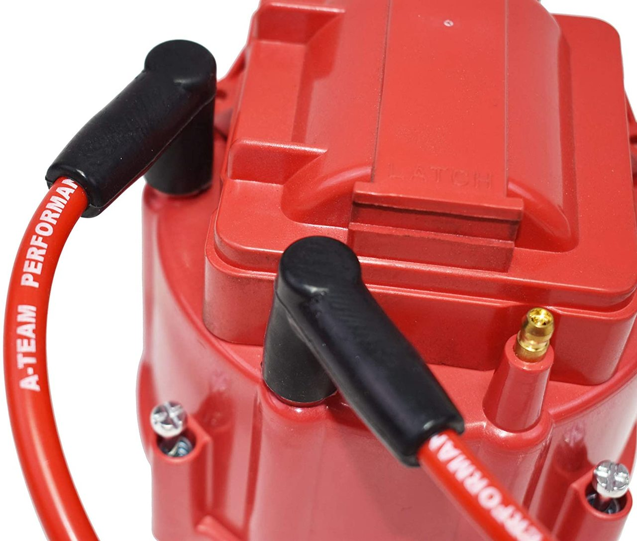 A-Team Performance Red Silicone Spark Plug Wires Compatible with SBC for Marine Use