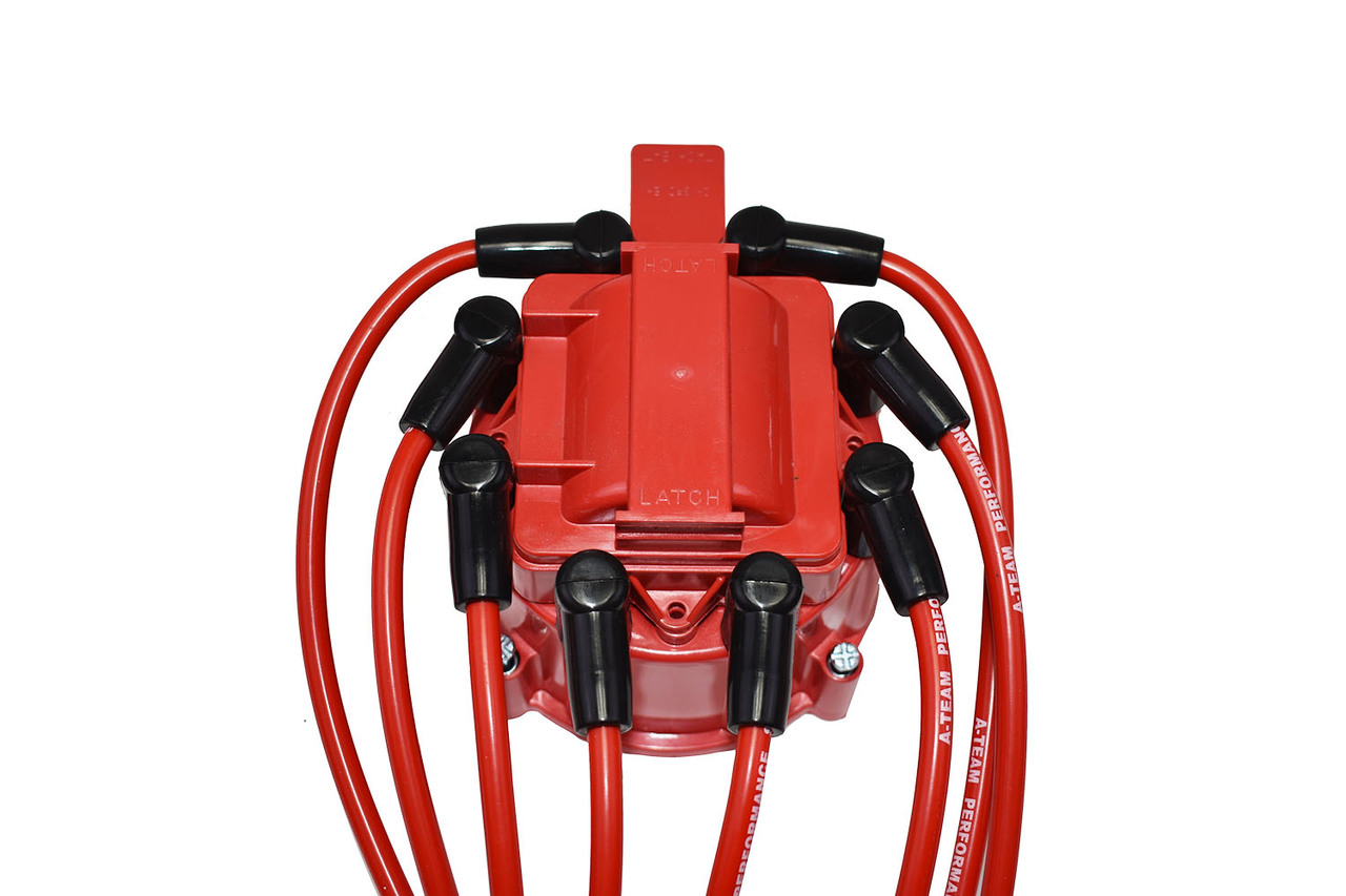 A-Team Performance 8.0mm Red Silicone Spark Plug Wires SBC Small Block Chevy Chevrolet GMC Over the Valve Cover Wires 283 305 307 327 350 400