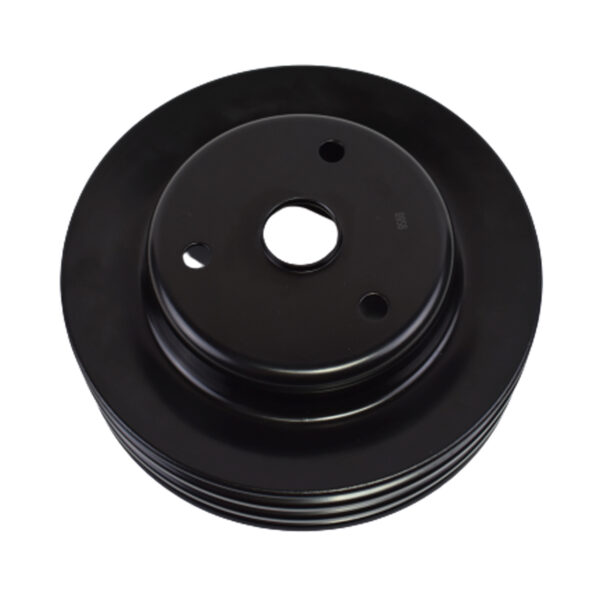A-Team Performance Crankshaft Pulley Triple-Groove LWP Long Water Pump Compatible With Small Block Chevy SBC 262 265 267 283 302 305 307 327 350 400 Black Steel