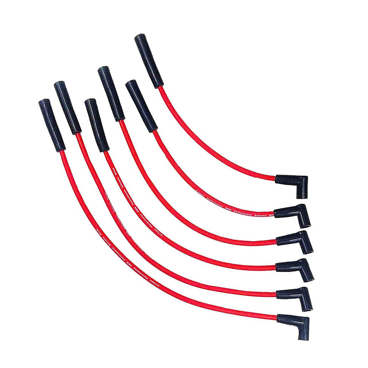 A-Team Performance 8.0mm Red Silicone Spark Plug Wires AMC/JEEP 199 232 252 258 282 Straight 6 Wires
