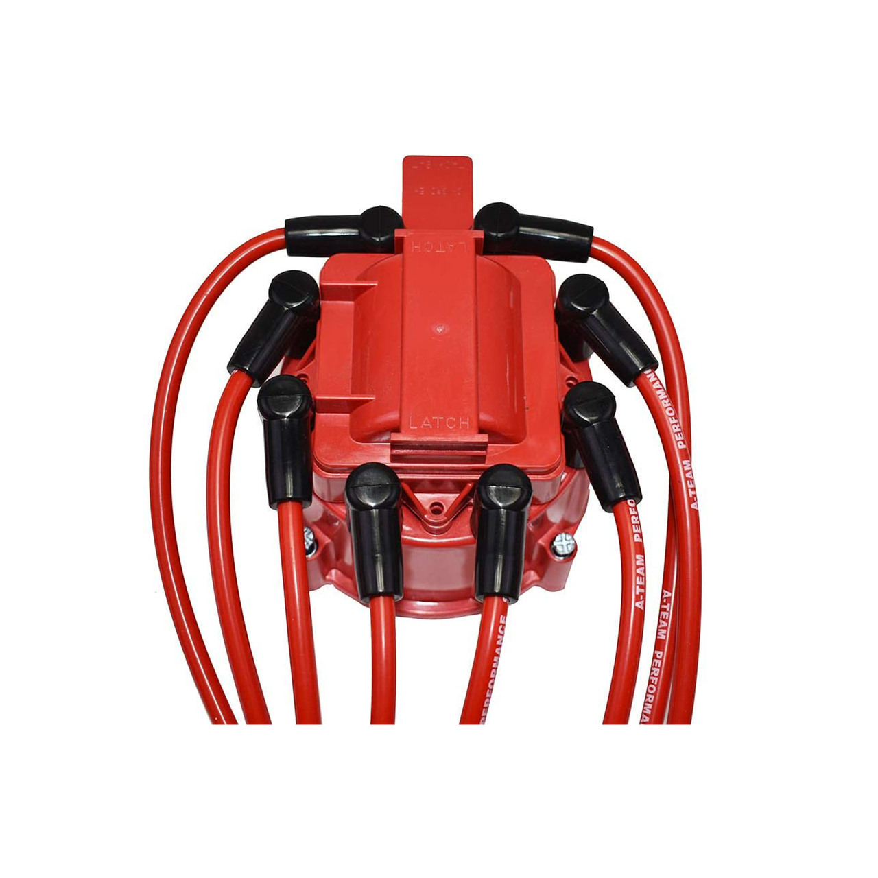 A-Team Performance 8.0mm Red Silicone Spark Plug Wires BBC Big Block Chevy Chevrolet GMC Straight Boot Wires 396 402 427 454 502 572