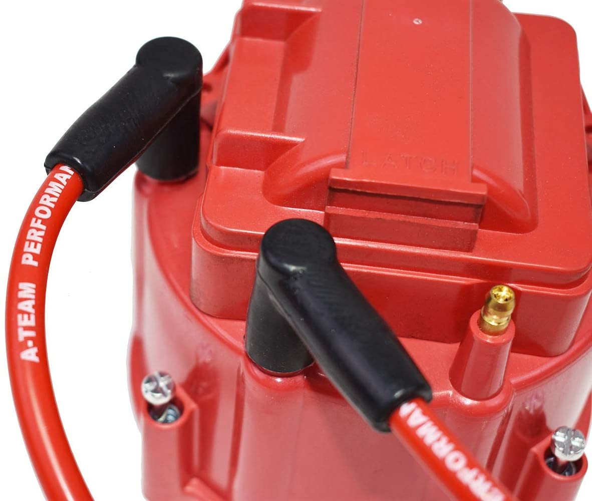 A-Team Performance 8.0mm Red Silicone Spark Plug Wires V6 V8 Compatible With Chevy Chevrolet GMC 4.3L 5.0L 5.7L TBI EFI