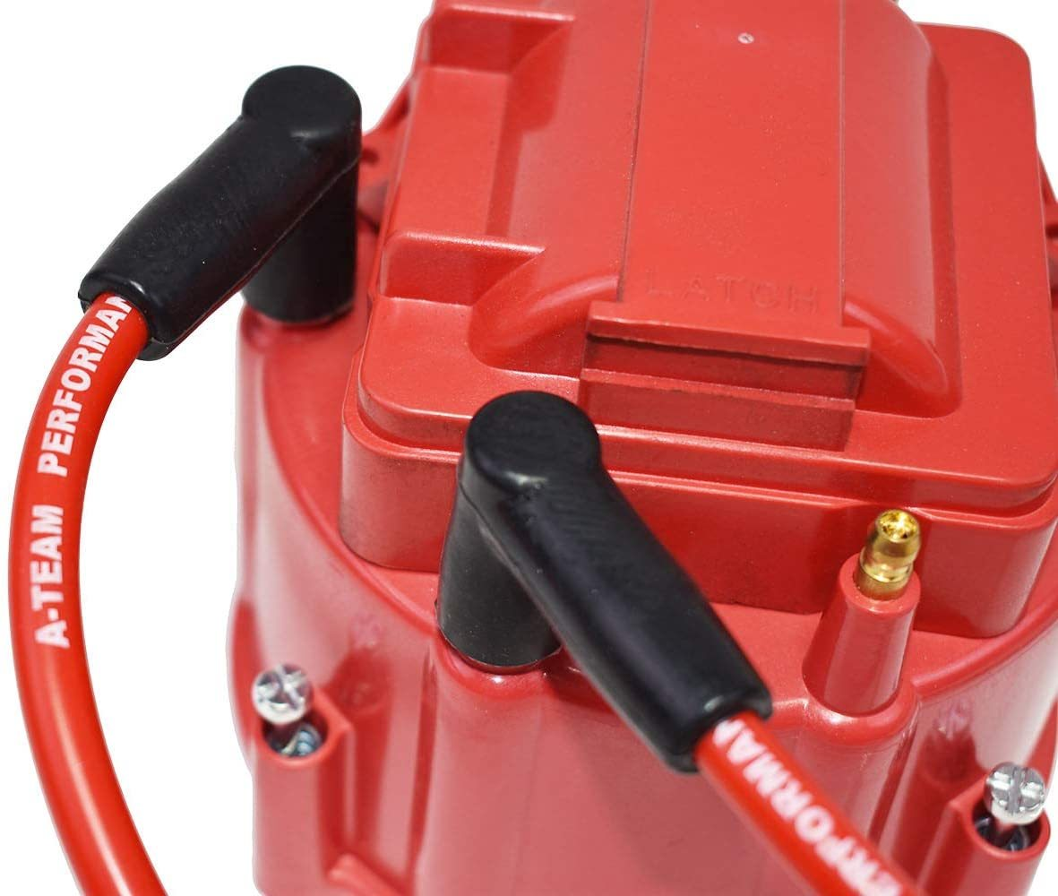A-Team Performance GMC Chevy 6 Cylinder 230 250 292 6 Cyl 8.0mm Red Silicone Spark Plug Wires