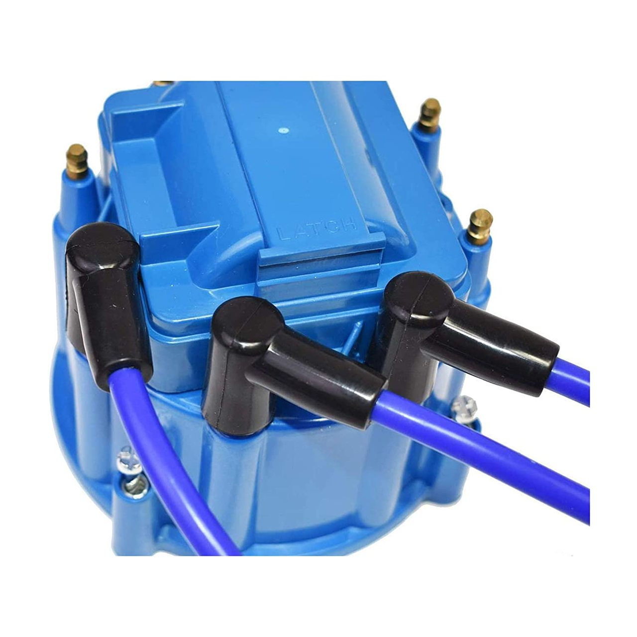 A-Team Performance 8.0mm Blue Silicone Spark Plug Wires BBF FE Big Block Ford Valve Cover Wires 332 351C 351M 352 360 361 370 390 400 427 428 429 460 514