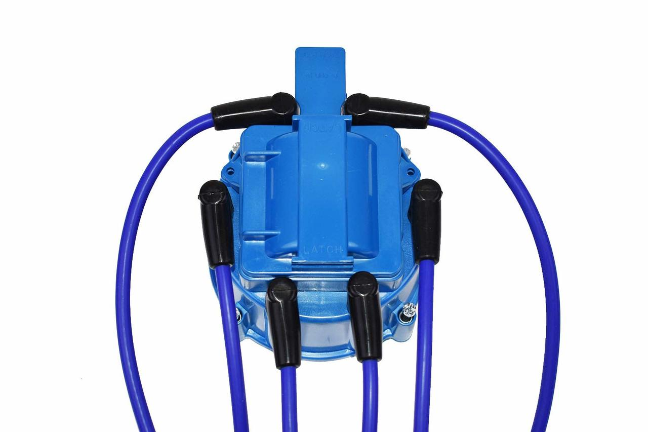 A-Team Performance Ford Truck 6 Cylinder 250 300 6 Cyl 8.0mm Blue Silicone Spark Plug Wires
