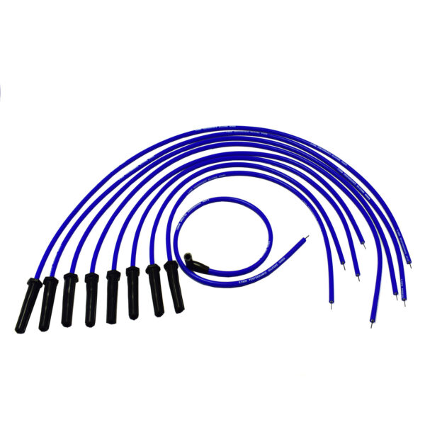 A-Team Performance Silicone High Performance Spark Plug Wire Set Universal Fit V8 V6 Plus Coil Wire for Buick Cadillac Chevy GMC Ford Mopar Oldsmobile Pontiac 9.5mm (Blue)