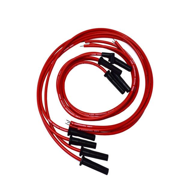 A-Team Performance Silicone High Performance Spark Plug Wire Set Universal Fit V8 V6 Plus Coil Wire for Buick Cadillac Chevy GMC Ford Mopar Oldsmobile Pontiac 9.5mm (Red)