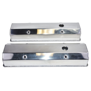 """A-Team Performance Chevy Fabricated Aluminum Tall Valve Covers 1/4"""" Rail SBC 350 383 400"""