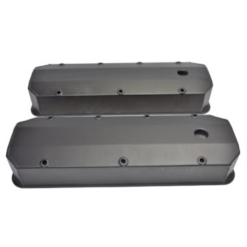 A-Team Performance BBC Fabricated Tall Aluminum Valve Covers Big Block Chevy 396 427 454 BLACK