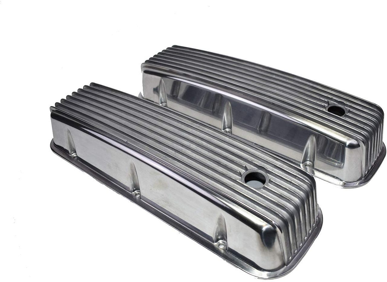 A-Team Performance Bbc Big Block Chevy Tall Finned Polished Aluminum Valve Covers 396 427 454