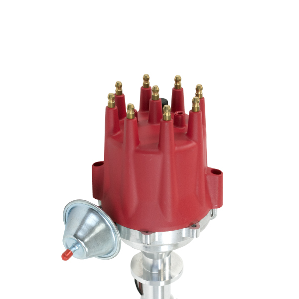A-Team Performance Pro Series Ready to Run R2R Distributor for Chevy 348 409, V8 Engine, Red Cap
